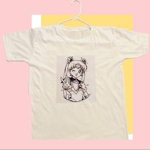 ✨Sale✨Cute Sailor Moon Sketch Graphic T-shirt